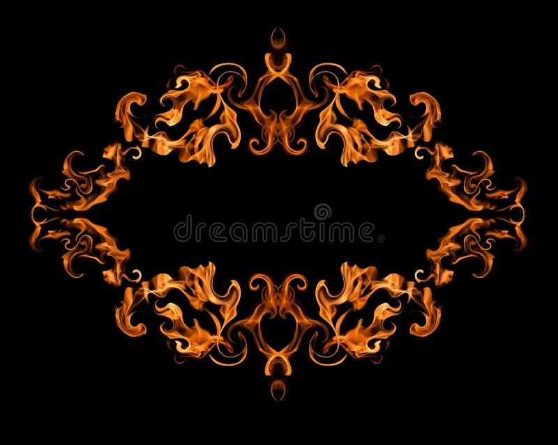 горящая рамка пожара стоковая фотография rf