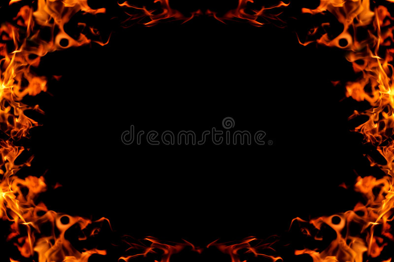 горящая рамка пожара стоковые изображения
