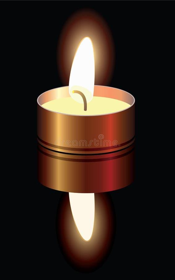 горящая свечка малая иллюстрация штока