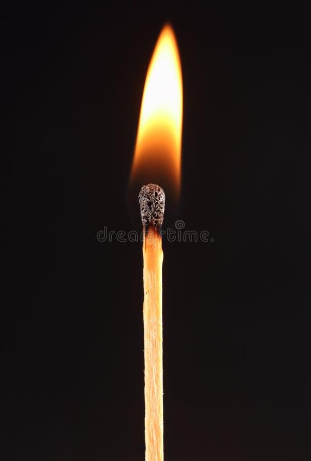 горящая спичка стоковое фото rf