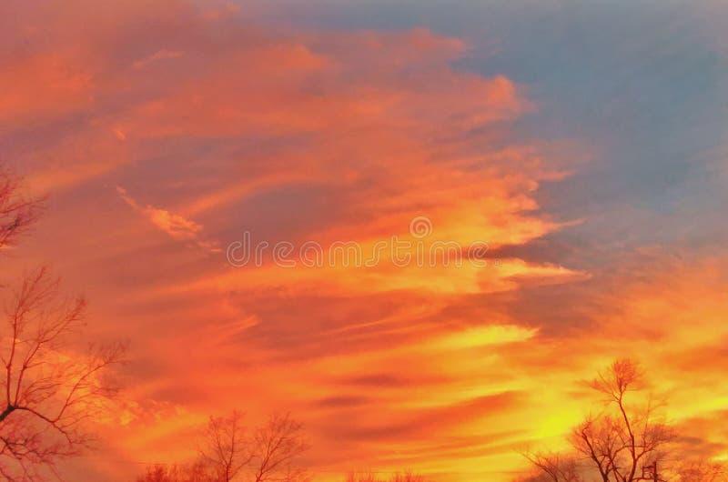 горящее небо стоковые изображения