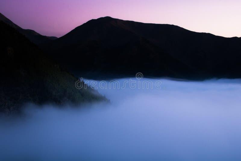 горящее небо стоковое изображение