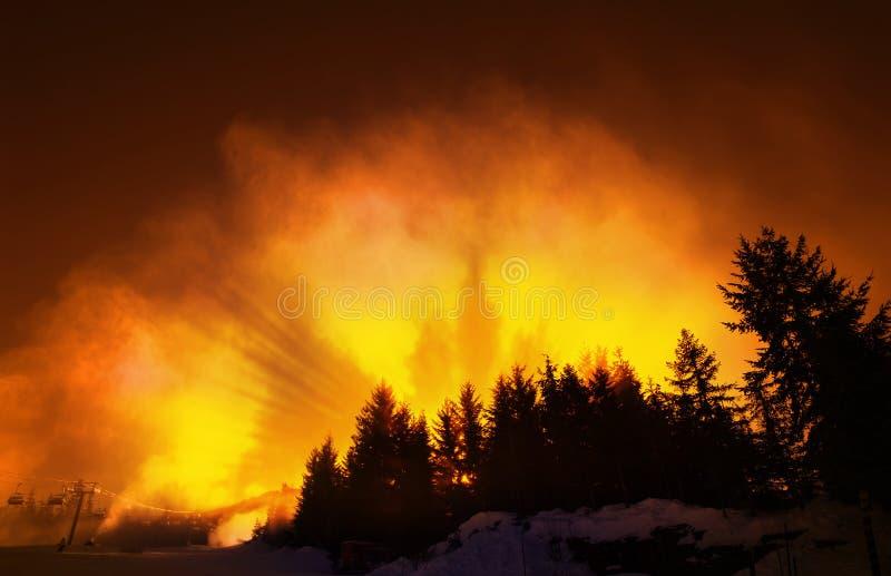 горящие наклоны стоковая фотография