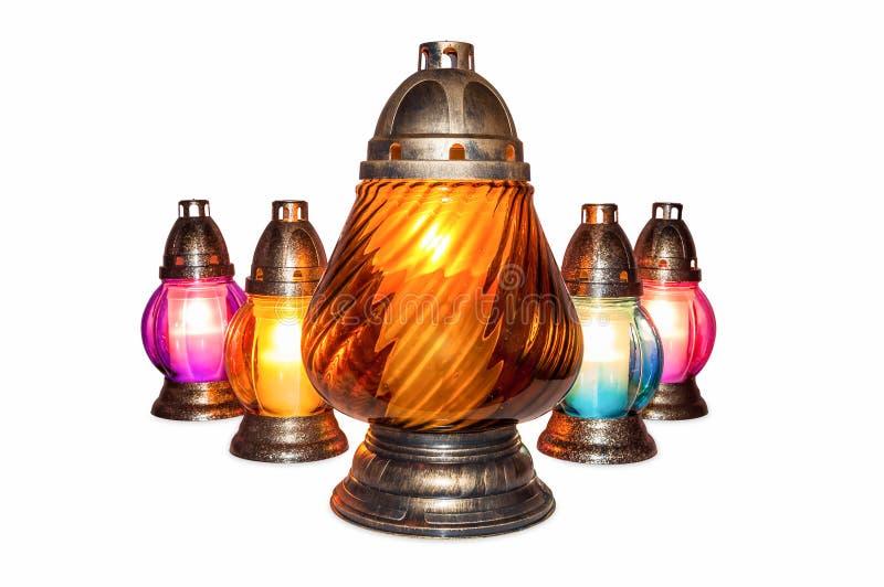 горящие свечки votive стоковые изображения rf