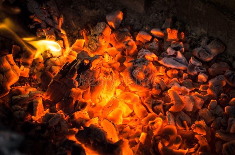 горящие угли стоковое фото
