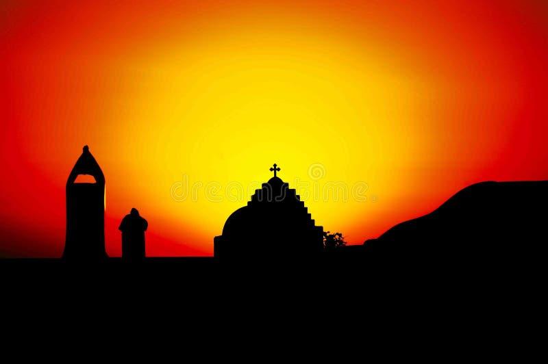 Горящий восход солнца, photoshop стоковая фотография