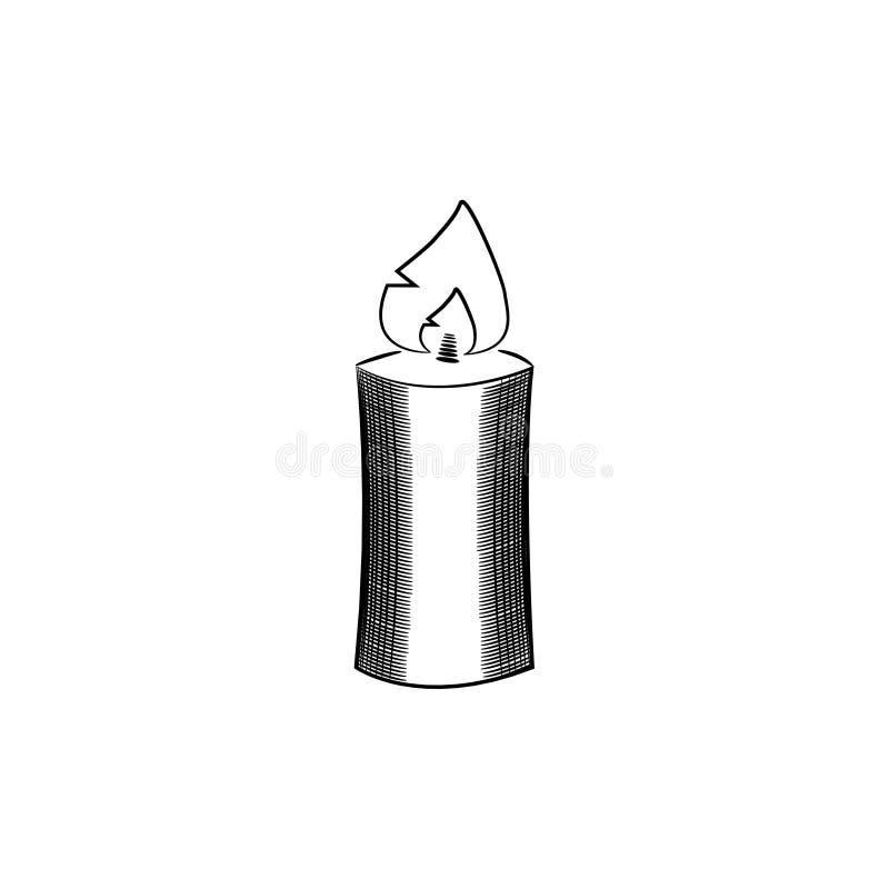 Горящий значок свечи стоковые фотографии rf