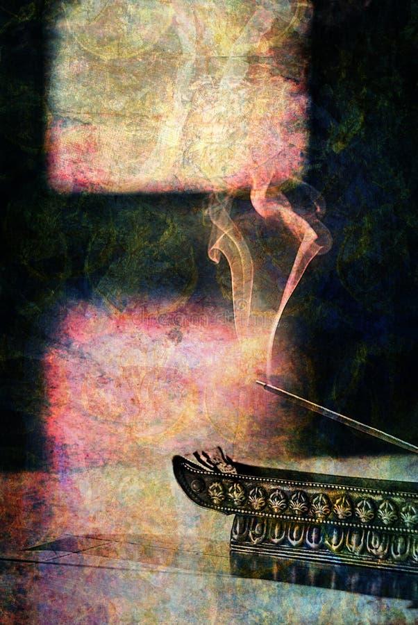 горящий ладан иллюстрация вектора