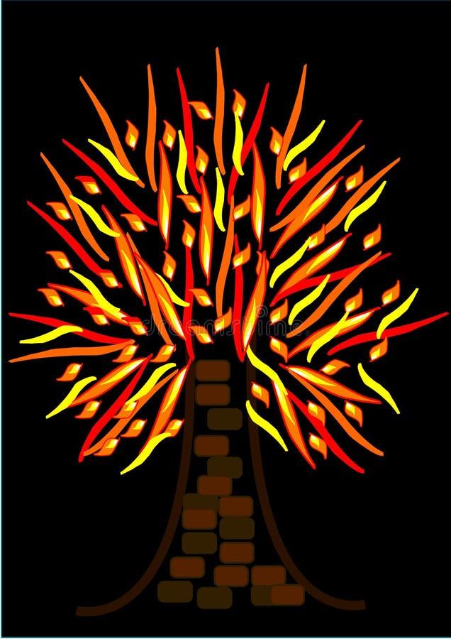 горящий пламенеющий вал иллюстрация штока