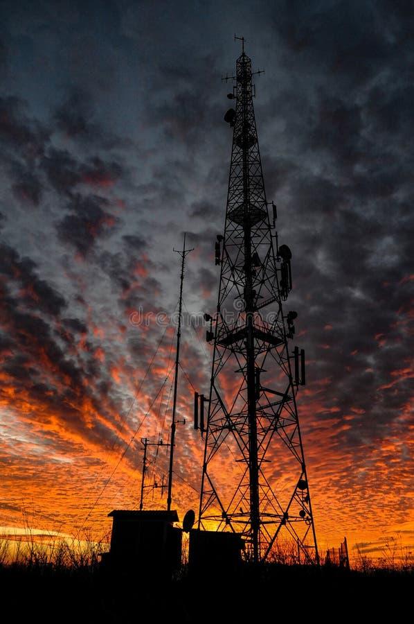 Горящий силуэт неба стоковая фотография