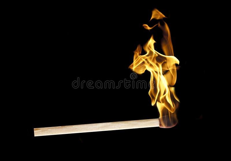 горящий matchstick стоковые фотографии rf