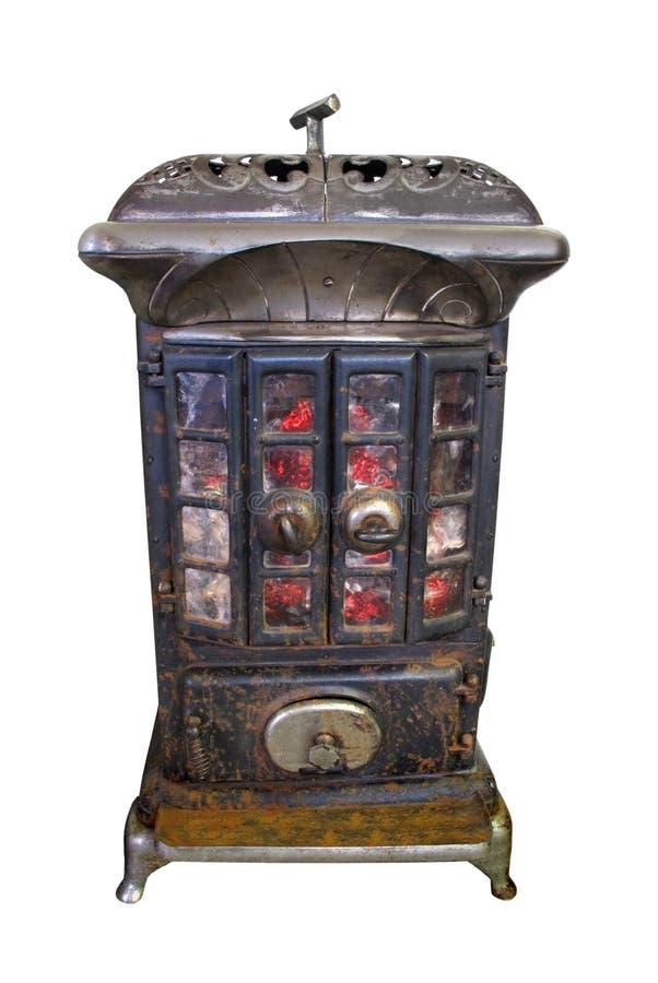 горящим древесина изолированная подогревателем старая стоковое фото rf