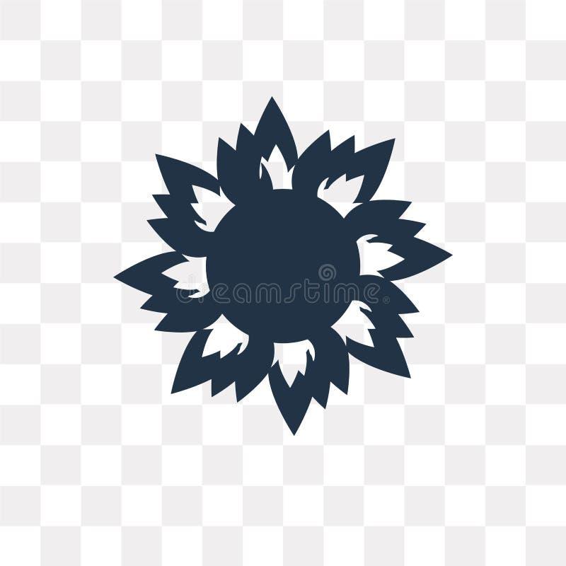 Горя значок вектора Солнця изолированный на прозрачной предпосылке, ожоге иллюстрация вектора