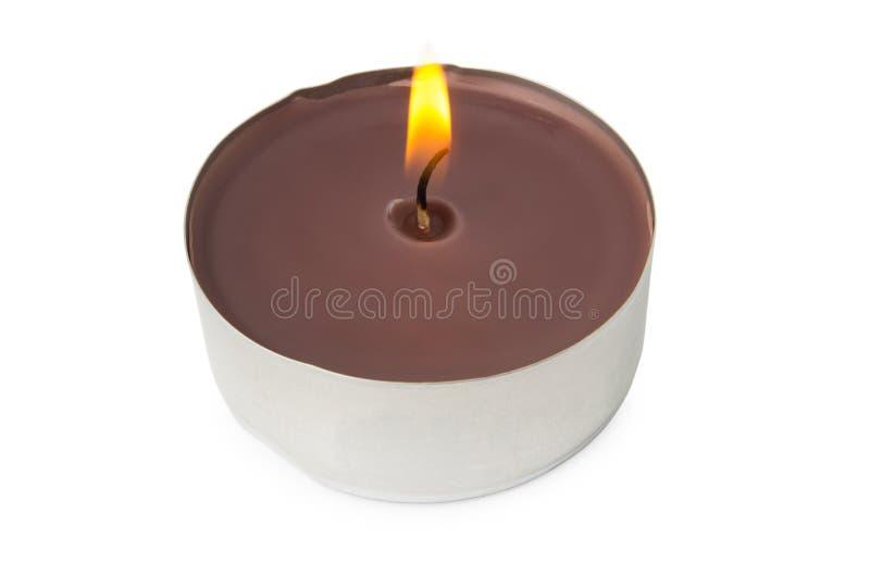 Горя надушенная свеча штендера стоковая фотография rf