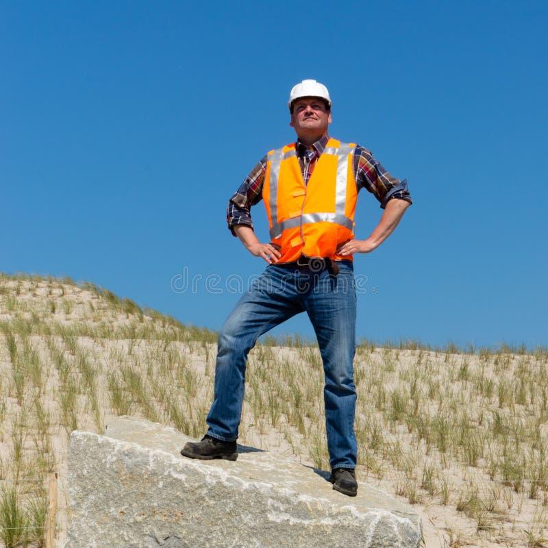 Гордый подрядчик стоковая фотография