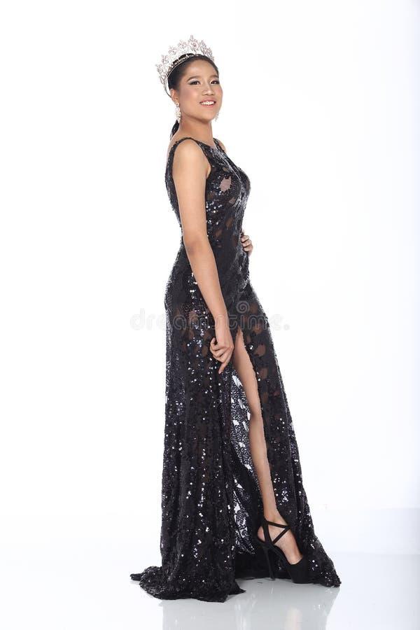 Госпожа Торжество Состязание в платье шарика мантии шарика вечера длинном с d стоковое изображение rf