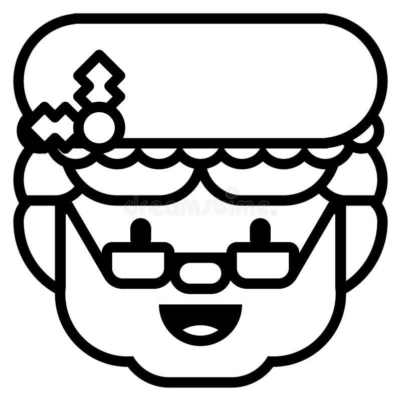 Госпожа шаржа Значок Клауса изолированный на белой предпосылке бесплатная иллюстрация