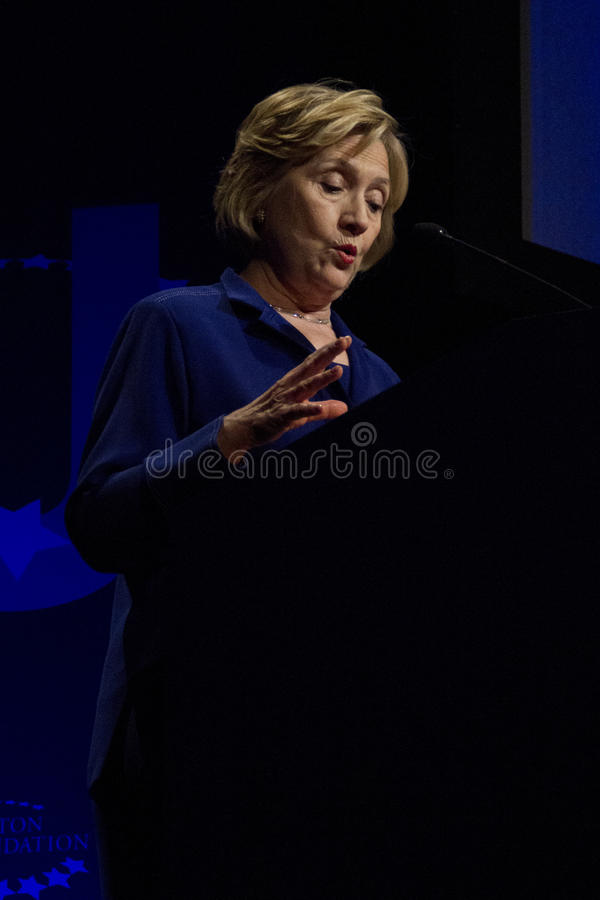 Госсекретарь Хиллари Клинтон Соединенных Штатов стоковое фото rf