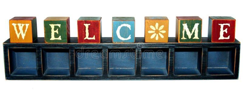 Download гостеприимсво верхней части коробки блоков Стоковое Фото - изображение насчитывающей welcome, визитер: 1197542