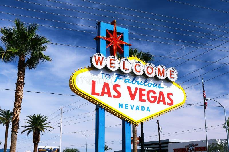 Гостеприимсво к фантастичному знаку Лас-Вегас стоковые изображения