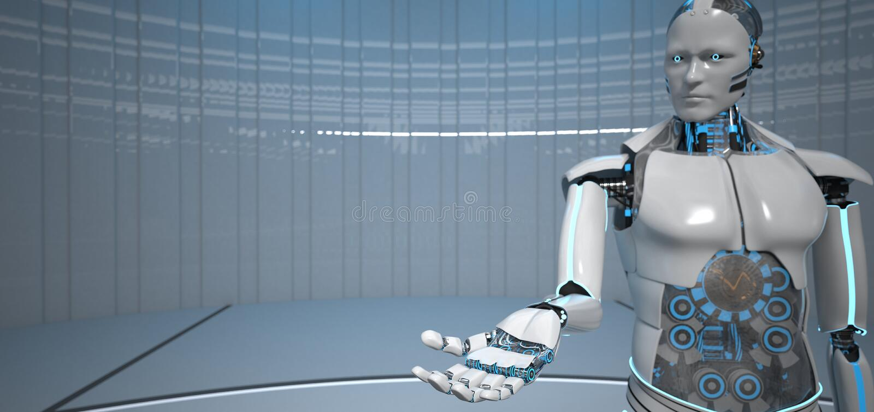Гостеприимсво руки робота иллюстрация вектора