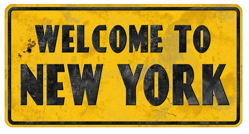 Гостеприимсво Grunge знака улицы Нью-Йорка стоковое изображение