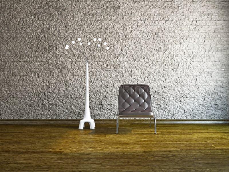 Гостиная с креслом стоковые фотографии rf