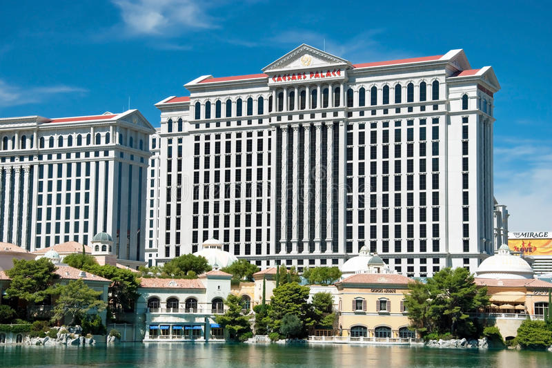 Гостиница дворца Caesars на прокладке Лас-Вегас в Неваде стоковые изображения rf
