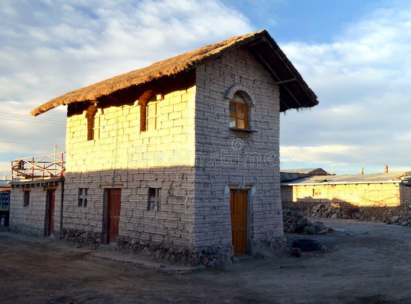 Гостиница в пустыне соли стоковая фотография rf