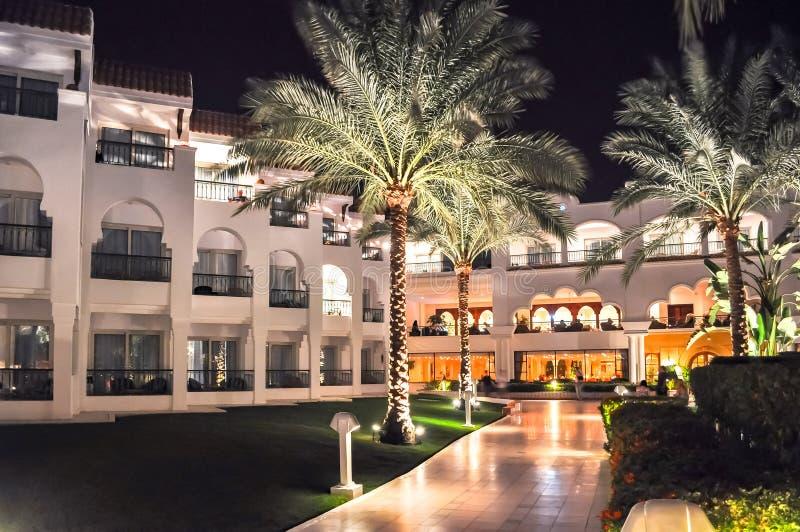 Гостиница в Sharm El Sheikh вечером, Египет стоковые фото