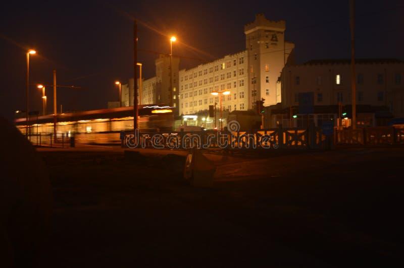 Гостиница замка Norbreck с трамваем стоковая фотография
