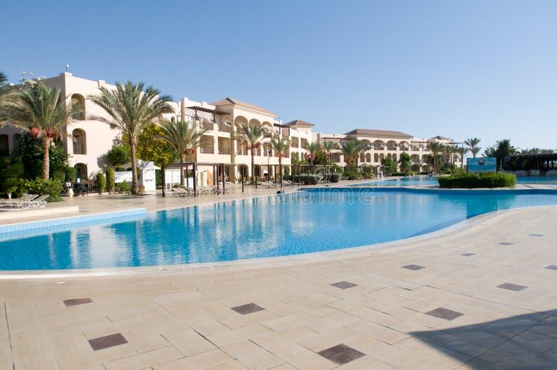 Гостиница 5 звезд в Египте с большим бассейном стоковое фото