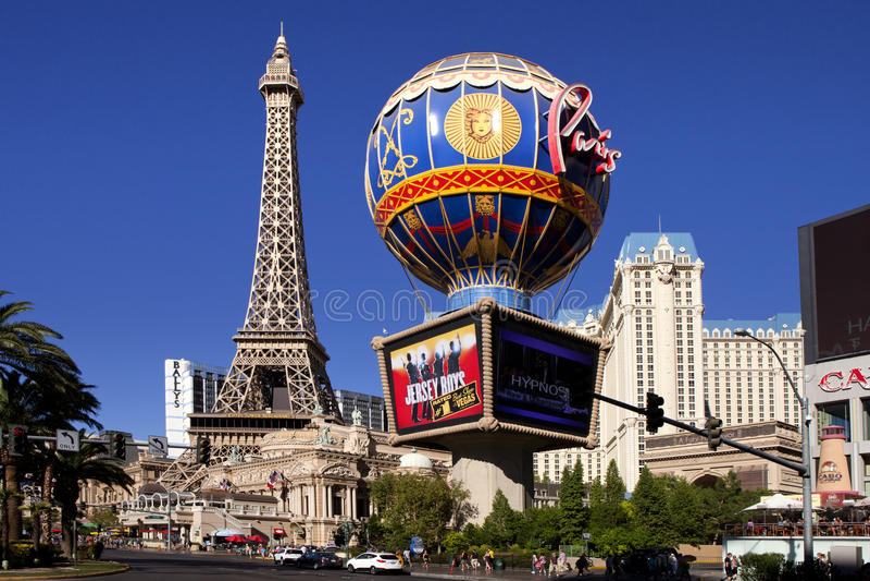 Гостиница и казино Парижа в Лас-Вегас, Неваде стоковое фото rf