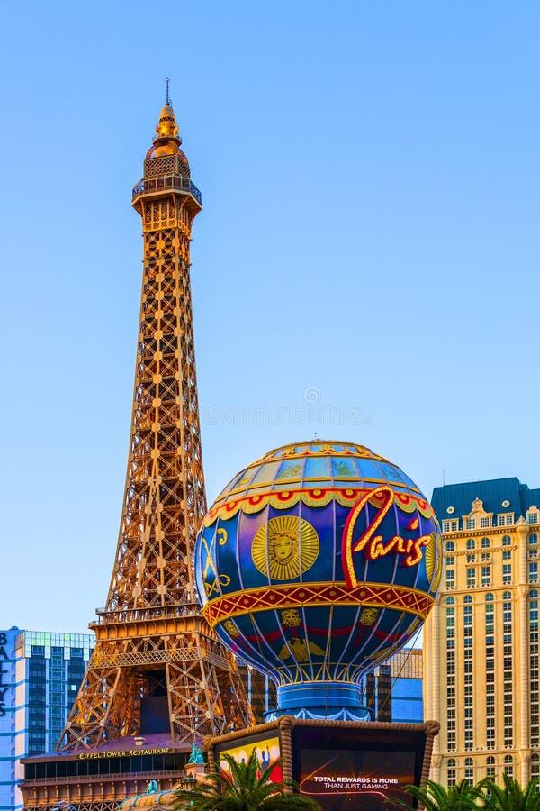 Гостиница и казино Парижа Лас-Вегас стоковое фото