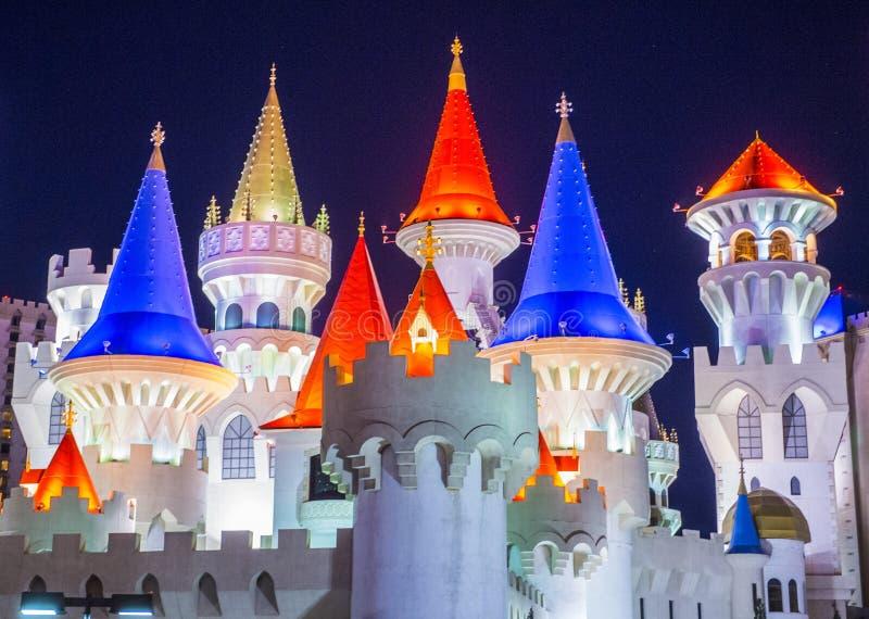 Гостиница Лас-Вегас Excalibur стоковые фотографии rf