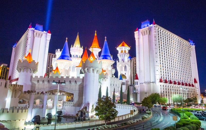 Гостиница Лас-Вегас Excalibur стоковое изображение