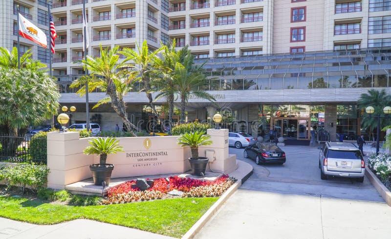 Гостиница междуконтинентальные Лос-Анджелес - ЛОС-АНДЖЕЛЕС - КАЛИФОРНИЯ - 20-ое апреля 2017 стоковые изображения rf