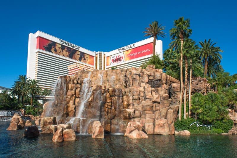 Гостиница миража в прокладке Лас-Вегас стоковое изображение