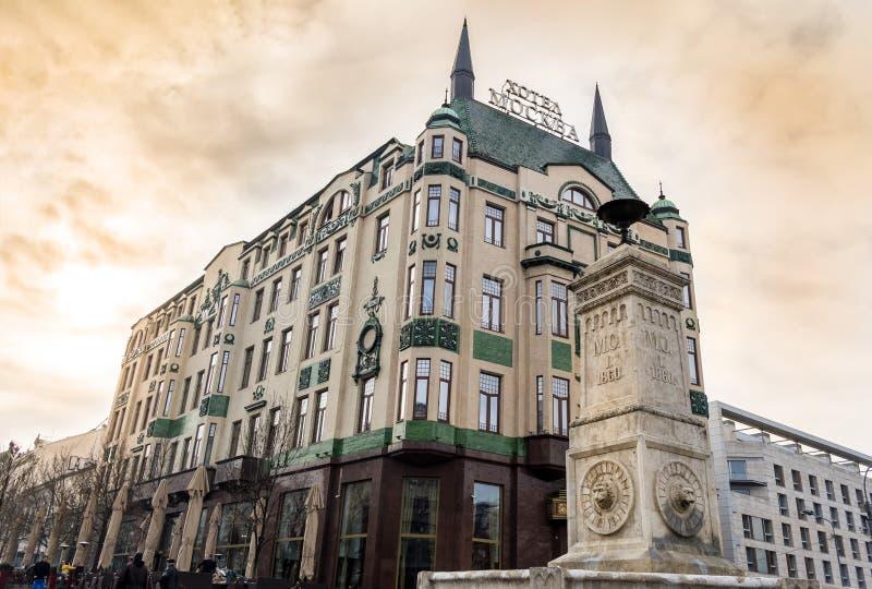 Гостиница Москва в Белграде, Сербии стоковое фото