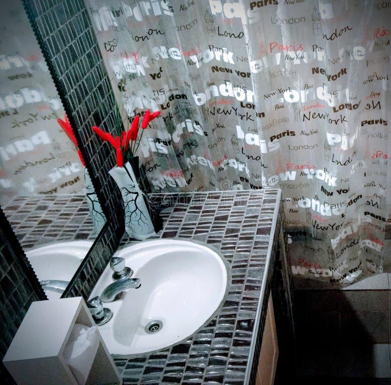 гостиница туалета ванной комнаты домашняя стоковые фото