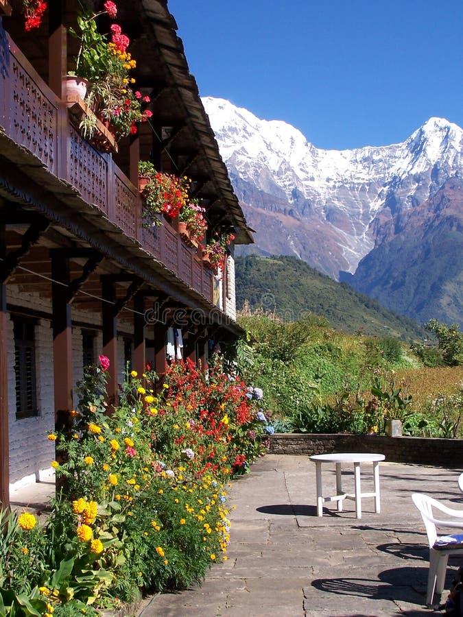 гостиница annapurna стоковая фотография rf