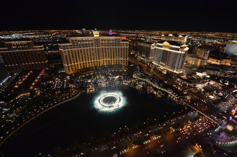 Гостиница Bellagio и казино, Bellagio, курорт Westgate Лас-Вегас & казино, структура, географическая характеристика, ноча, метроп стоковая фотография
