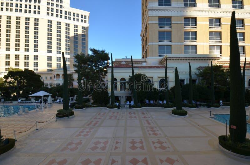 Гостиница Bellagio и казино, площадь, город, ориентир ориентир, район стоковое изображение