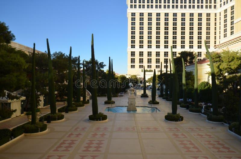 Гостиница Bellagio и казино, площадь, ориентир ориентир, город, городская площадь стоковое изображение rf