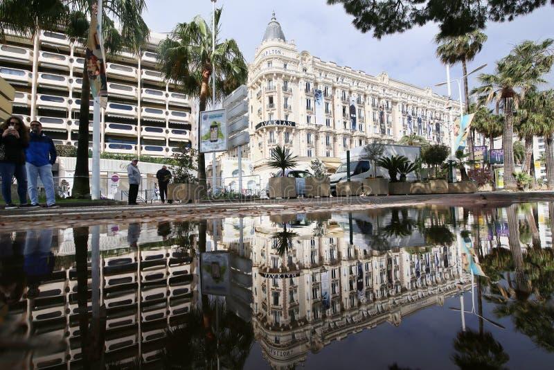 Гостиница Carlton атмосферы дальше во время 71th ежегодного Канн Fil стоковые изображения rf