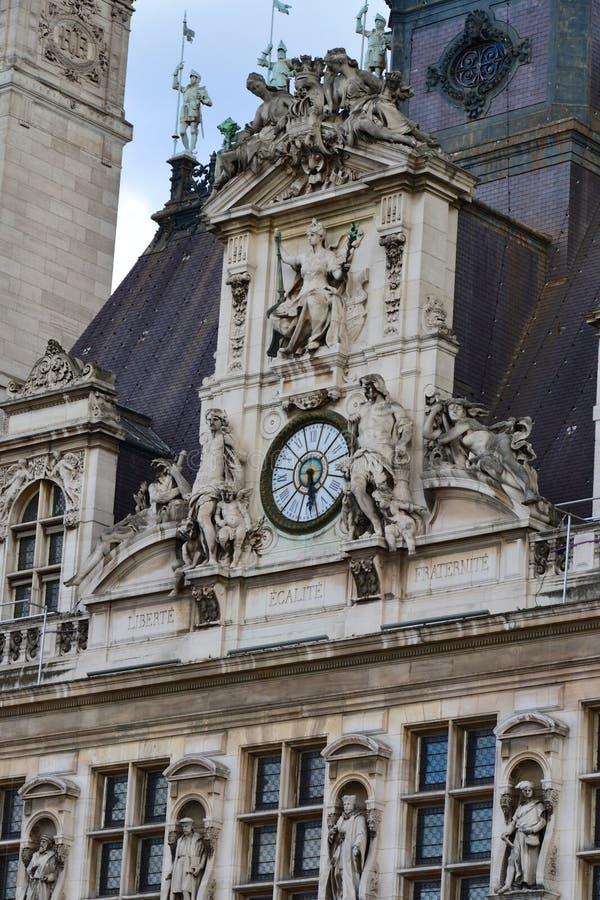 Гостиница de Ville Часы стоковые изображения rf