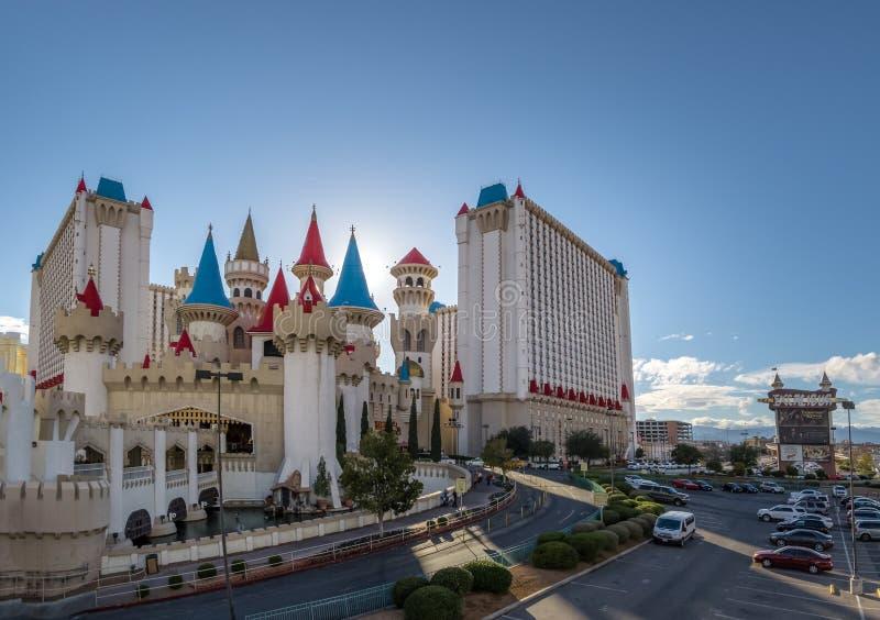 Гостиница Excalibur и казино - Лас-Вегас, Невада, США стоковое фото