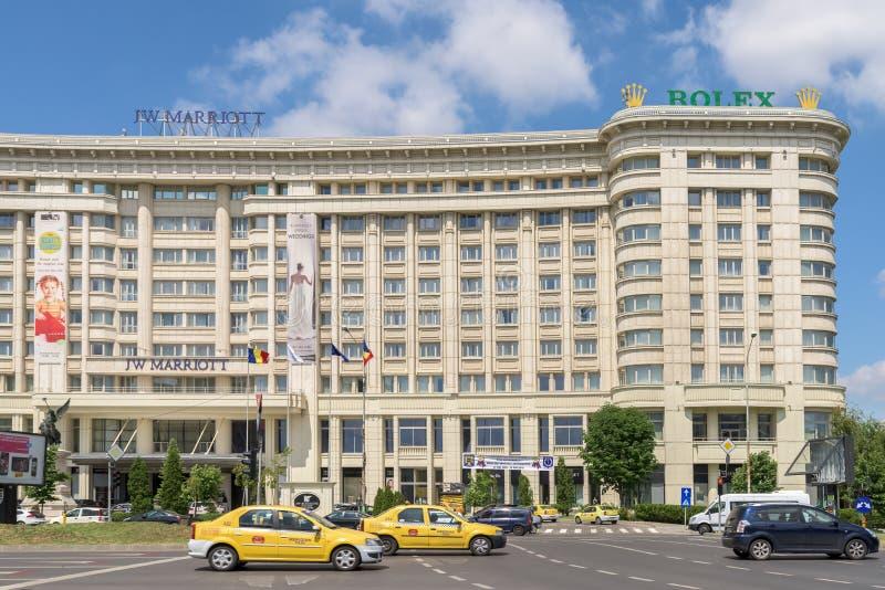 Гостиница Jw Marriott Бухареста грандиозная стоковые фотографии rf