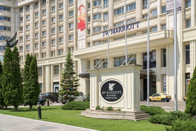 Гостиница Jw Marriott Бухареста грандиозная стоковые изображения