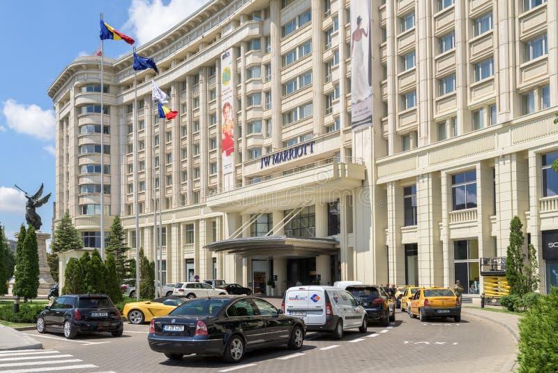 Гостиница Jw Marriott Бухареста грандиозная стоковое фото rf
